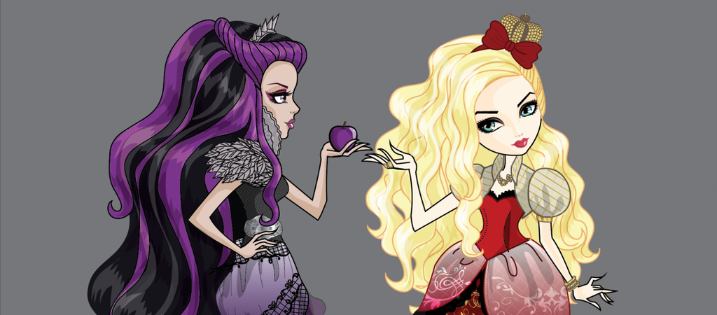 Raven Queen and Apple White from ever after high.. by ...