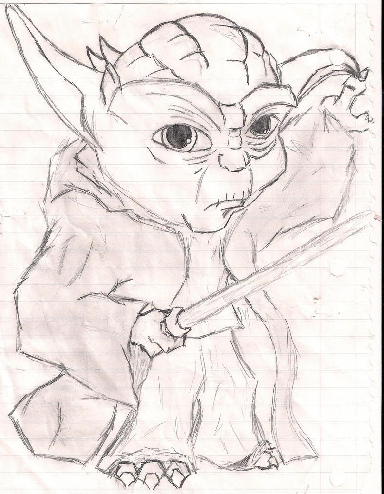 Coloring pages yoda - Yoda Coloring Pages