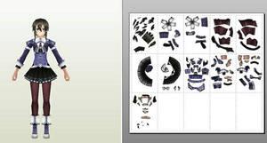 sinon sword art online papercraft