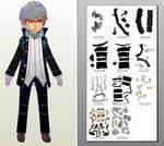 Persona 4 Narukami Yu papercraft