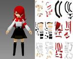 Mitsuru Kirijo Persona 3 Papercraft
