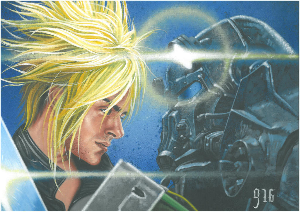 Final Fallout..Final Fantasy v Fallout Commission. by BlackLabelArt