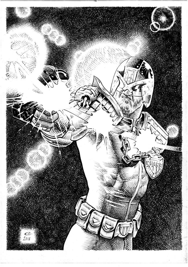 Dredd...Big Gun by BlackLabelArt