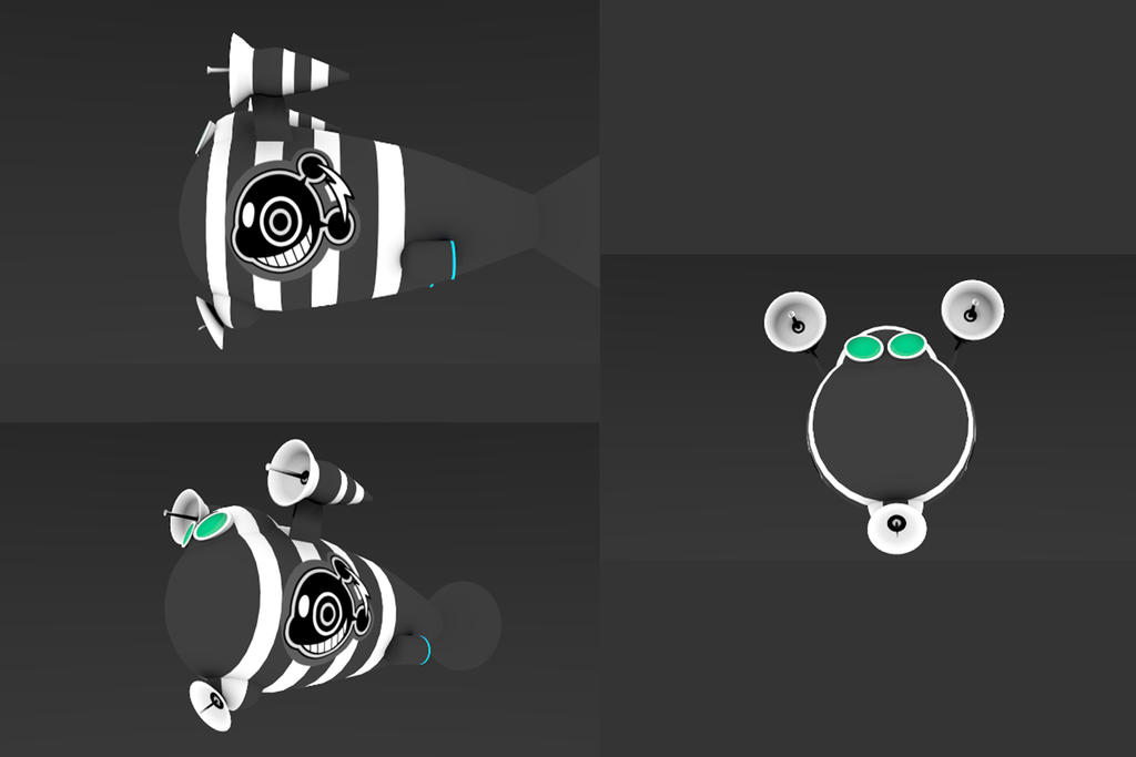 Space Channel 5 [Blender] Space shipp Jaguar by