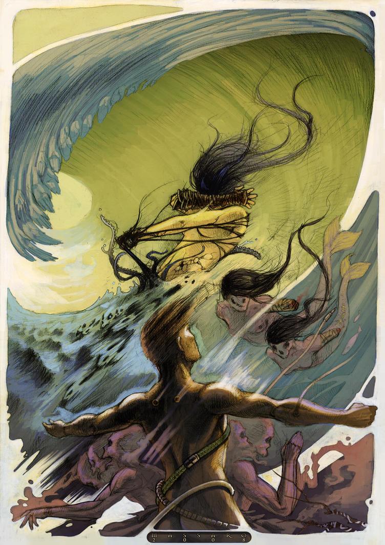 Storming sea by Darsim