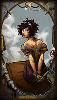 steampunk girl_color by Darsim