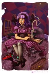 'Purple' Alice in Wonderland by Darsim