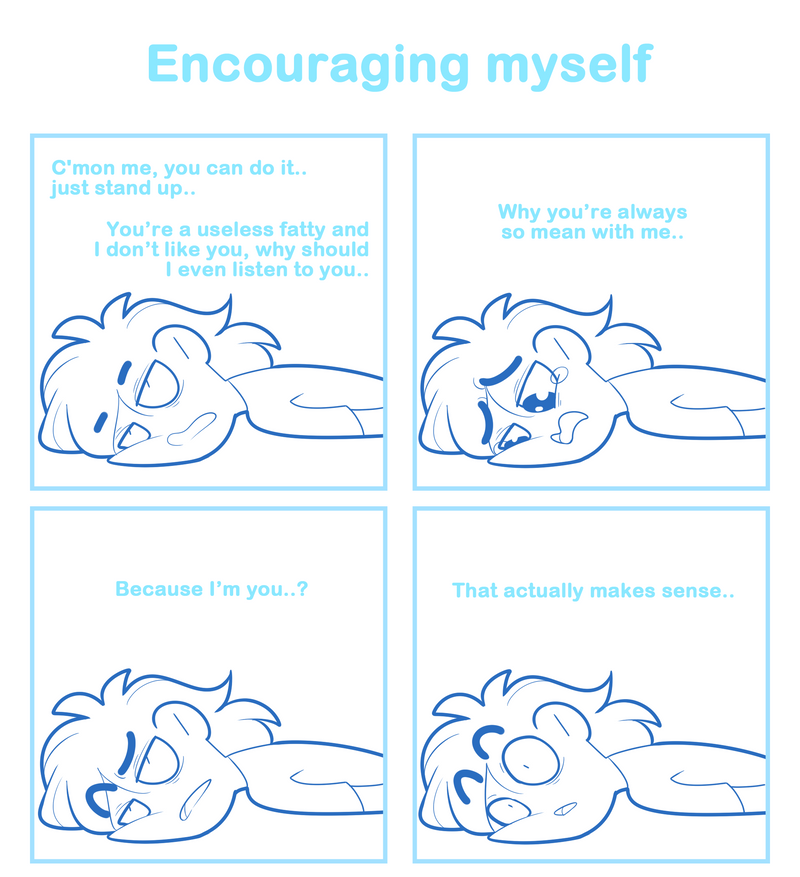 Encouraging myself by SmokyJack