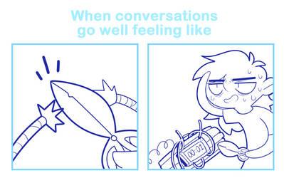 When conversations go well feeling like
