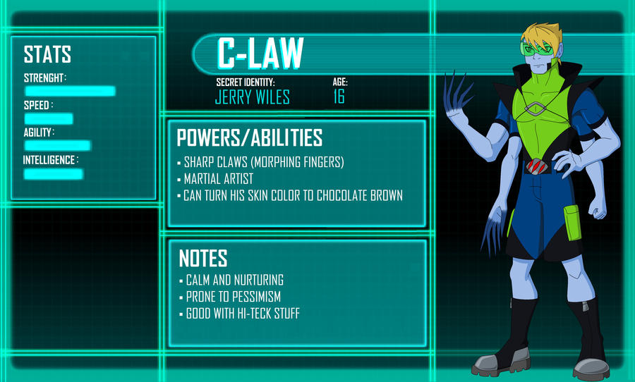 Young Justice OC CLaw by Hiniha on DeviantArtYoung Justice Season 3 Character Bios