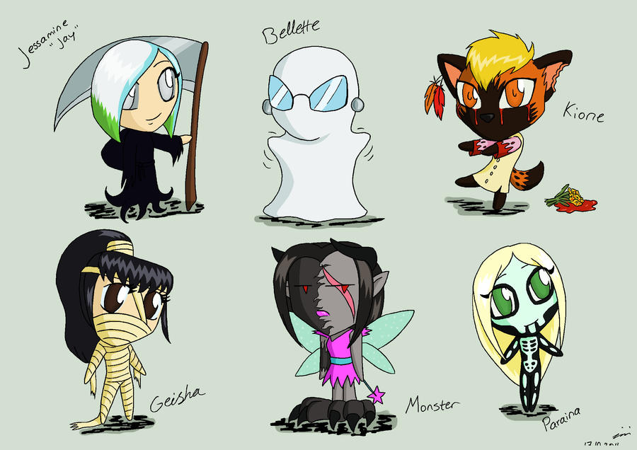 Halloween Chibis 02 by Hiniha