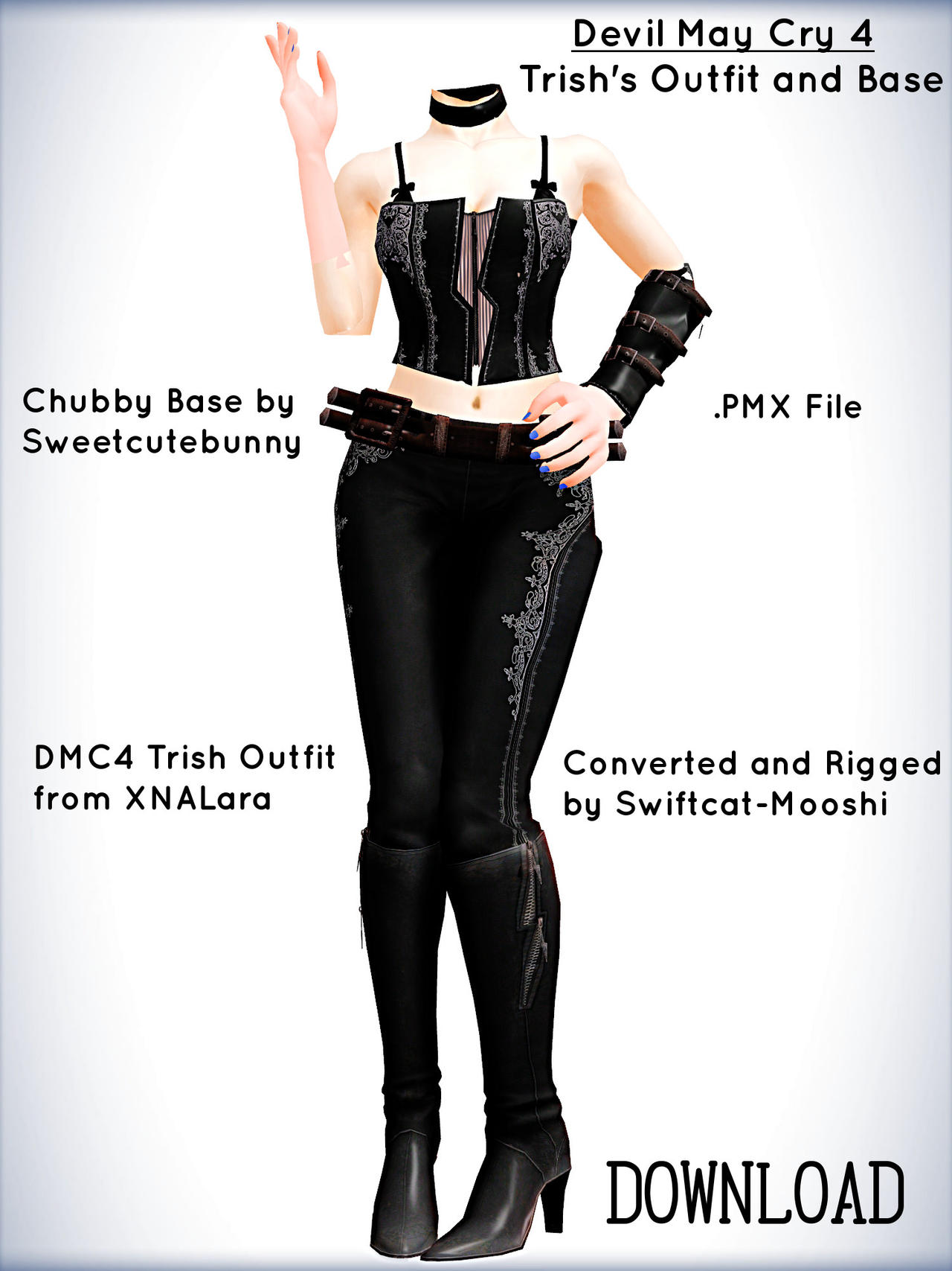 Devil May Cry 4 Trish Base Outfit DL by xXFrenchToastXx