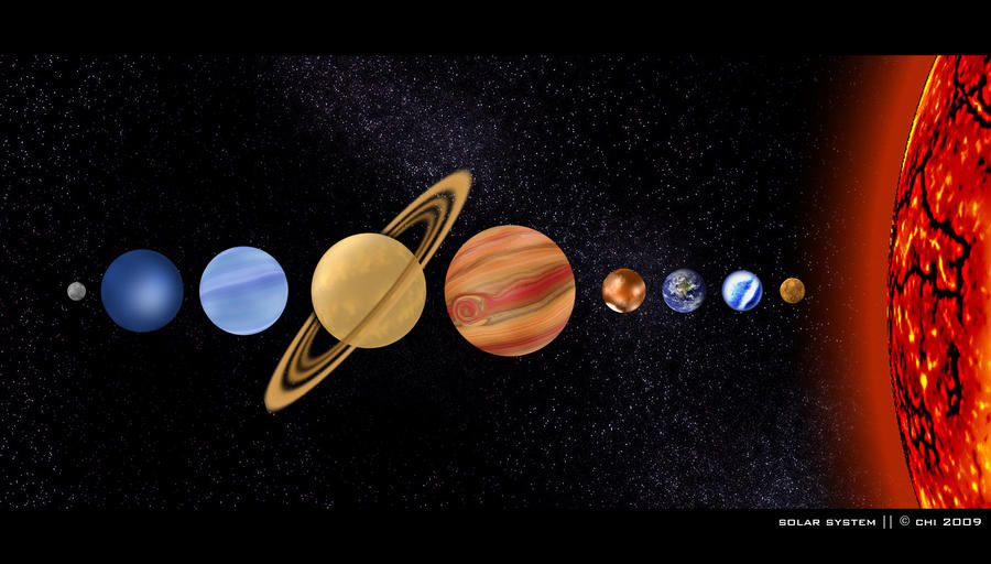paint in the solar system drawing - photo #13