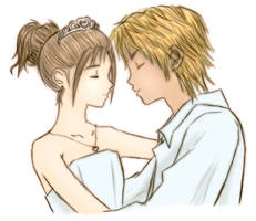 Yuna and Tidus by Animekiran