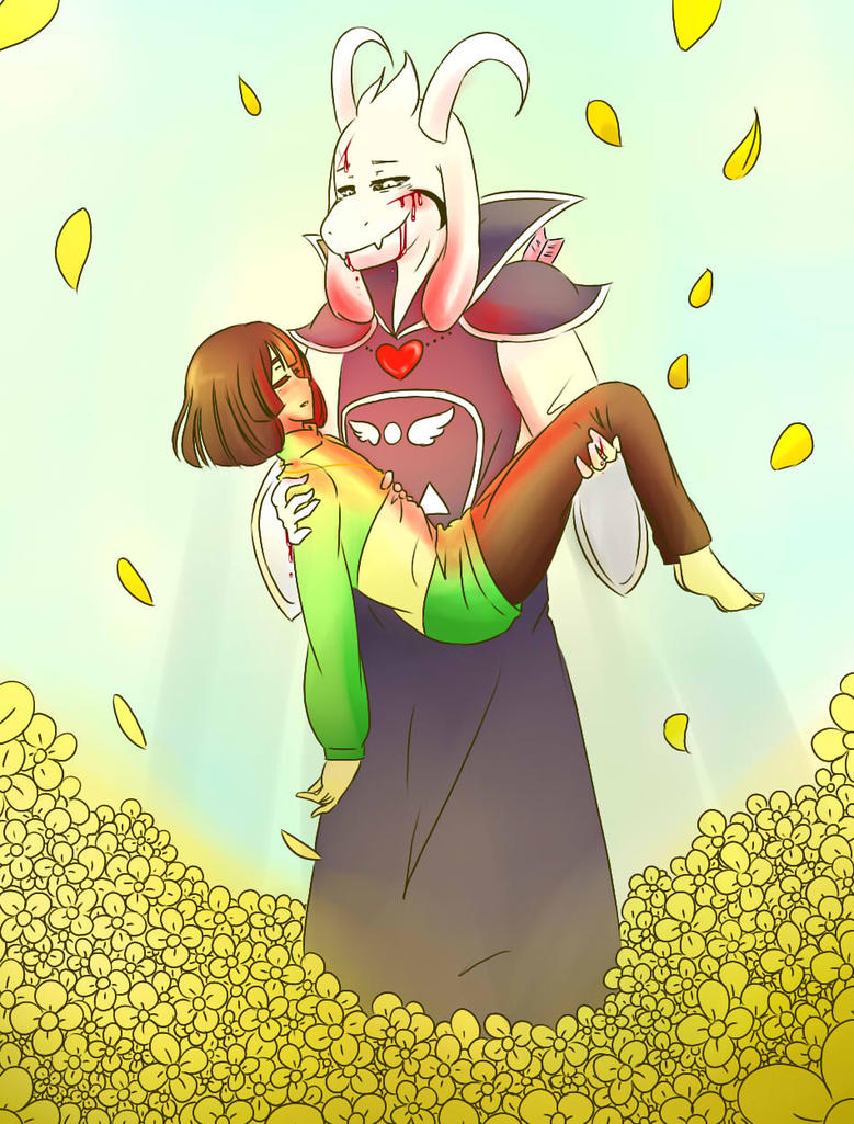 Asriel and Chara by shy-gal24 on DeviantArt