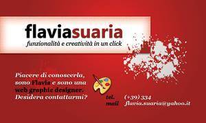 Flavia Suaria Business Card