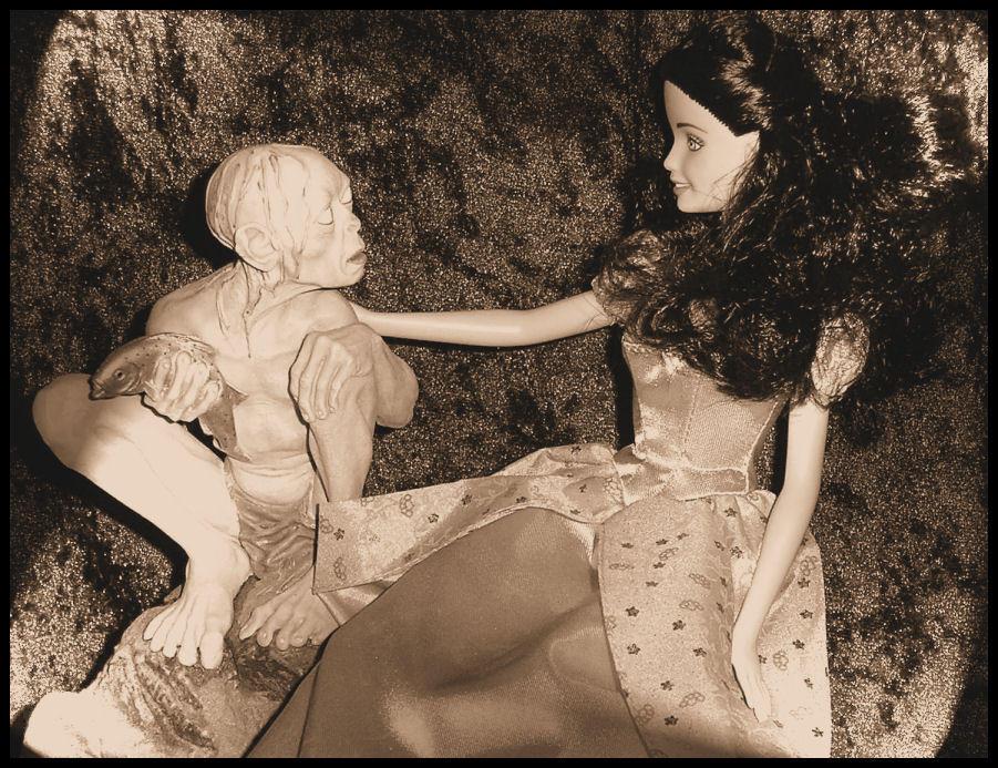 Arwen Meets Gollum by Jhez