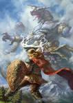 Perun defeats Skeaper the beast