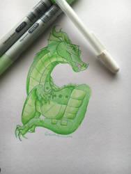 Chameleon  by kamdoesart