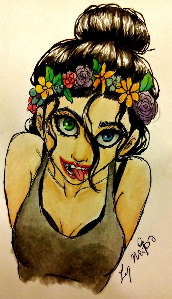 flowers crown by LynAnnais
