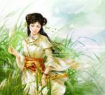 girl at lakeside by phoenixlu