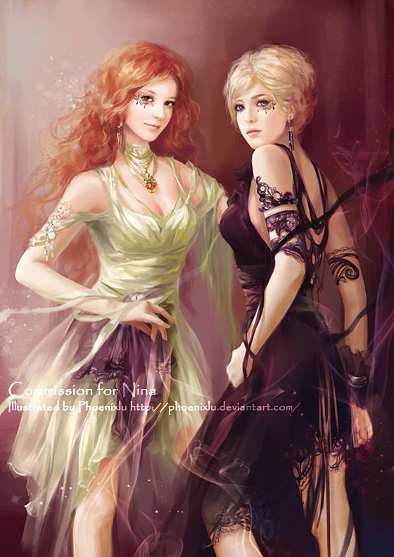 Twins by phoenixlu