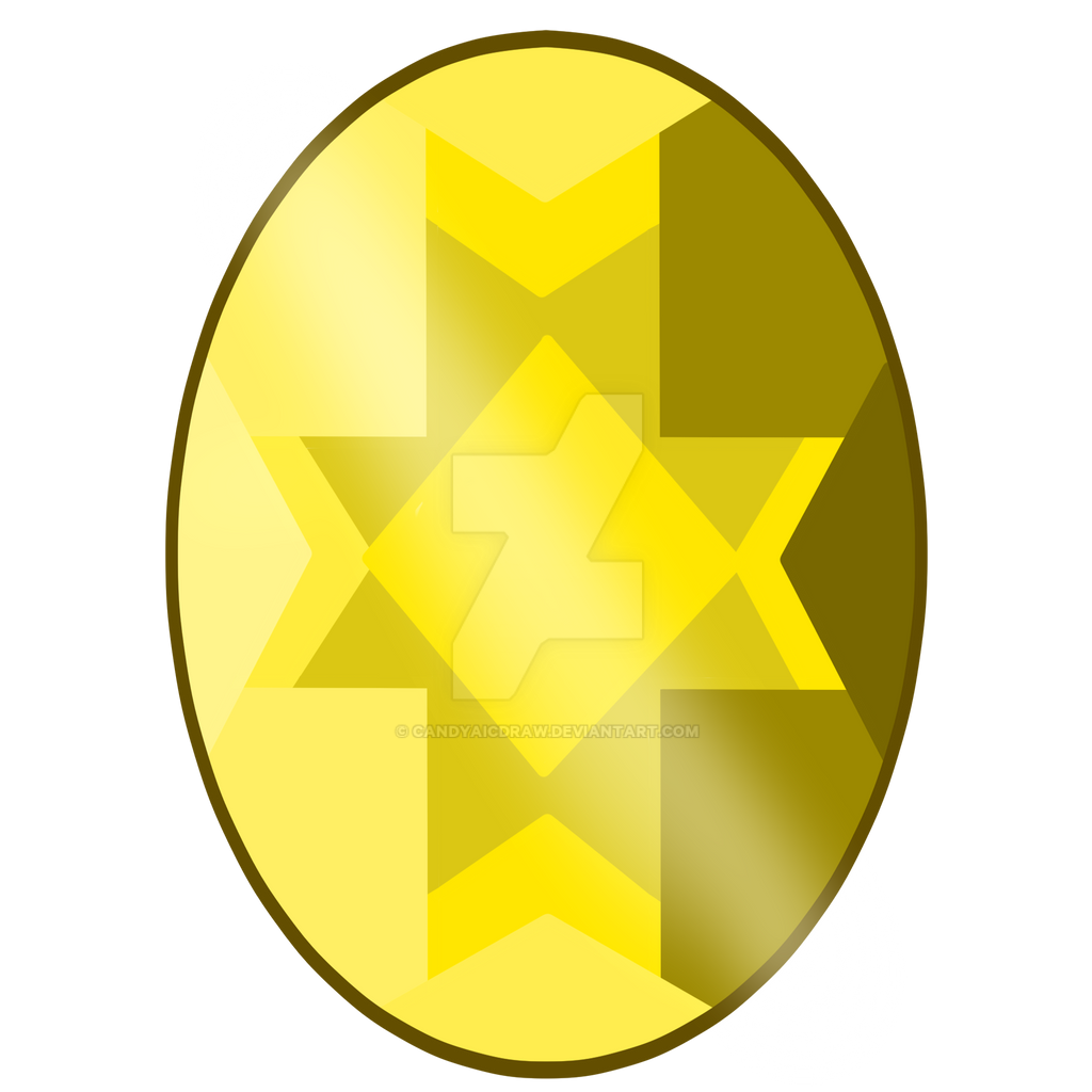 Yellow Quartz Gem [NOT FREE TO USE] by CandyAICDraw