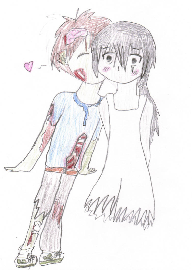 Zombie Boy and a Ghost Girl by Gviruszombies on DeviantArt