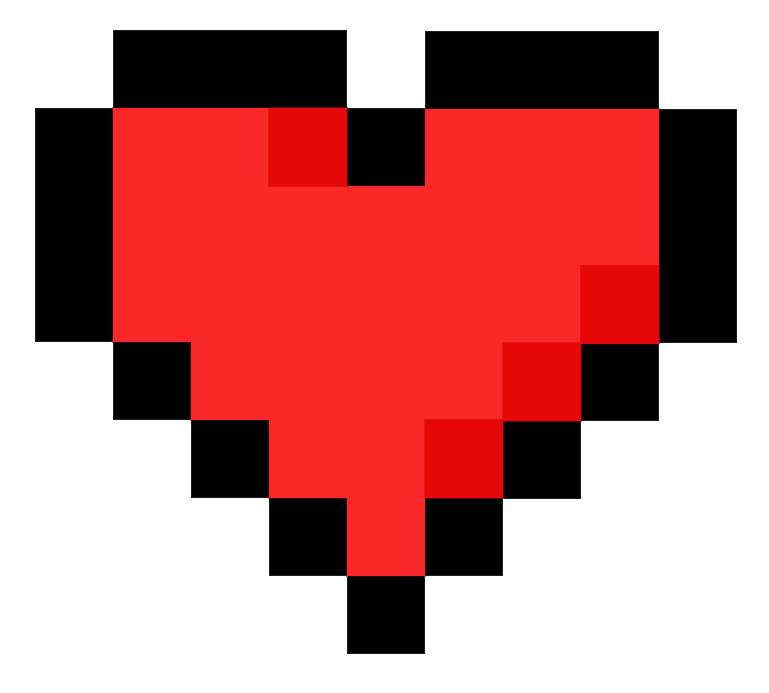 Pixel Heart by Sutoroberii-Lea on DeviantArt