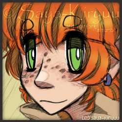  OC  Doodle Portrait Icon - Flynn by Saya-Kiryuu