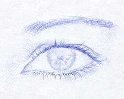 Ballpen eye - ojo a boligrafo (sketch)