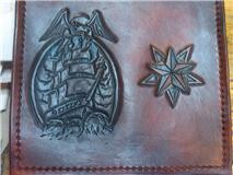 Ship and Eagle chain wallet by FattDaddyLeather