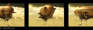Steampunk Zeppelin by Priss-nqm