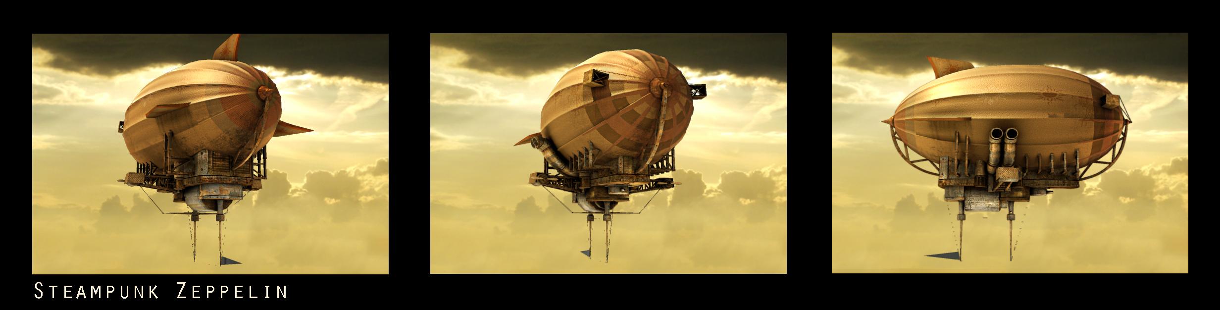 Steampunk Zeppelin Wallpaper Steampunk Zeppelin by