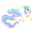 Princess Celestia is lying down