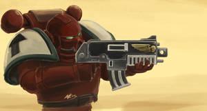 Blood Raven Space Marine Fanart