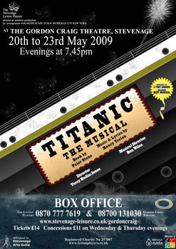 Titanic - The Musical - theatre poster