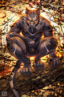 Black Panther by cheetahpaws