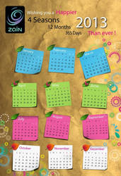 2013 Calender Concept By Zahraa812graphic-d5k8zmj