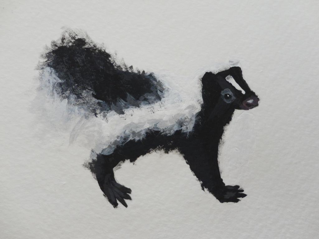 skunk painting by tatchya on deviantart