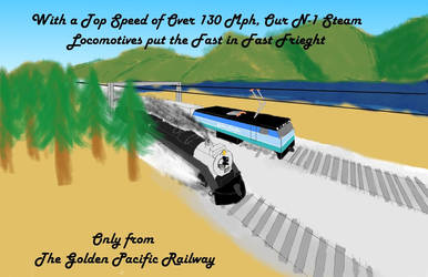 Golden Pacific Fast Freight Ad