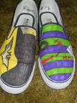 Batman and Joker Shoes