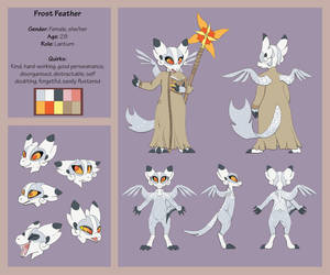 [Wyngro NPC contest] Frost Feather by Pink-Death-Pigeon