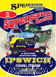 Old Skool Spedeworth Superstox Poster by gridart