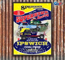 Spedeworth Retro Superstox Poster by gridart