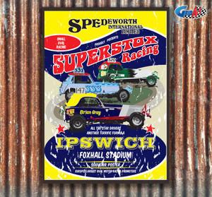 Spedeworth Retro Superstox Poster