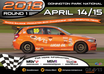 2018 Round 1 Donington Park Race Weekend Poster by gridart