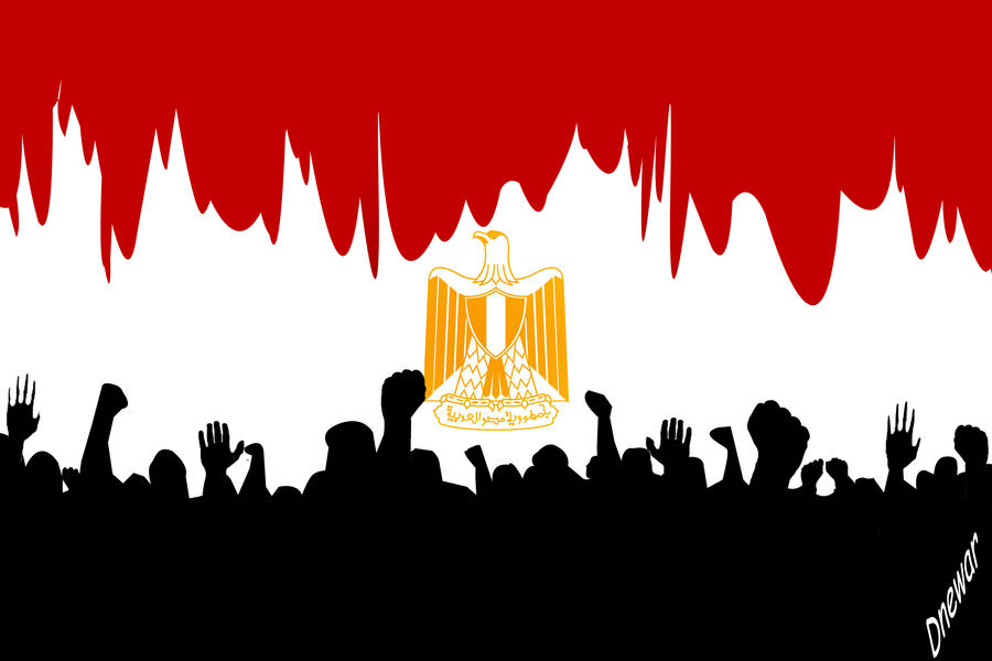 egypt's flag by booode