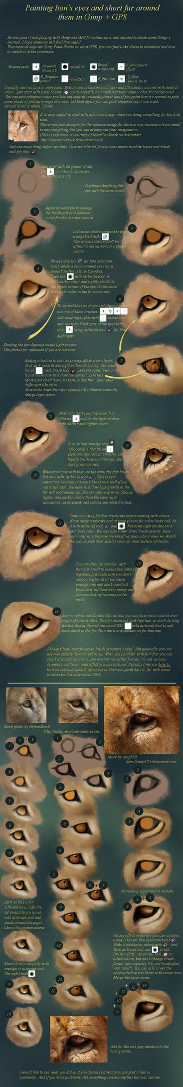 Painting lion's eye and fur... by Scheherazade2c