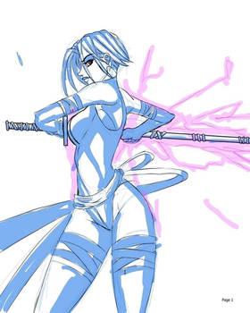Sketch Psylocke